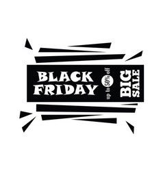 big sale on black friday shopping on white vector image vector image