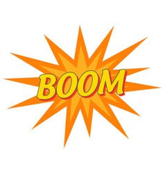 boom pop art banner wording sound effect vector image