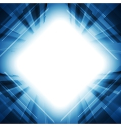 Bright blue motion technology background vector image