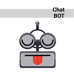 Cartoon robot face smiling cute emotion show vector