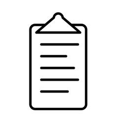checklist line icon clipboard symbol vector image vector image