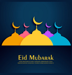 Colorful mosques design for eid festival vector