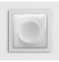 Condom wrapper package white blank template vector