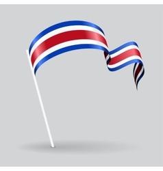 Costa Rican wavy flag vector image vector image