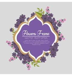 cute flowers frame background vector image