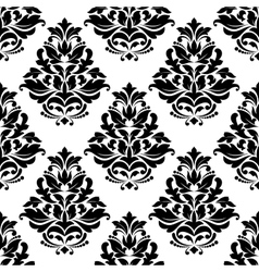 Damask style bold arabesque seamless pattern vector