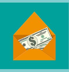 dollar cash in envelope vector image