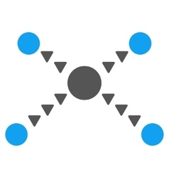 Dotted links flat symbol vector