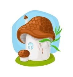 Fairy mushroom house vector