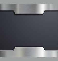 Frame of a metal plate vector image vector image
