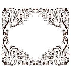 frame retpo vector image vector image