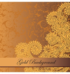 Gold floral background with place for your text vector
