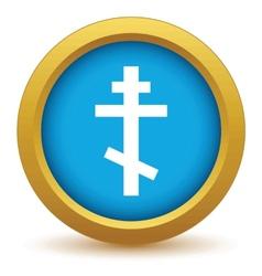 Gold orthodoxy icon vector