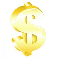 golden dollar sign vector image