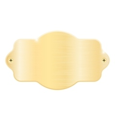 Golden nameplate Blank metal name plaque with vector image