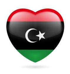 Heart icon of libya vector