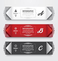 Infographic design modern vintage labels template vector