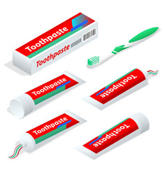 Isometric paste or gel dentifrice used with a vector