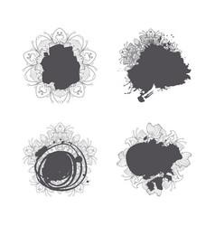 modern abstract hand drawn splash blob set vector image vector image