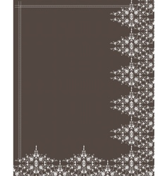 Ornamental frame and pattern vector image vector image