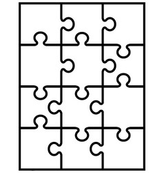 Parts of white puzzle vector