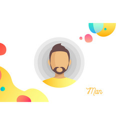 people cartoon man avatar isolated vector image