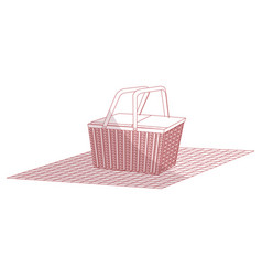 Picnic basket isolated icon vector