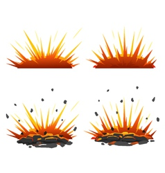 Set of explosions vector