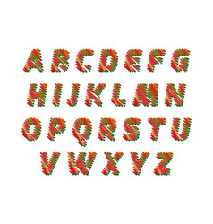 sketch alphabet - different colors letters are vector image