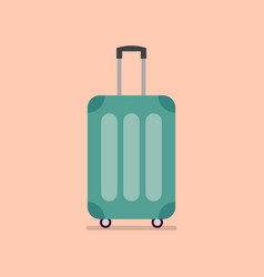 travel luggage in flat style vector image vector image