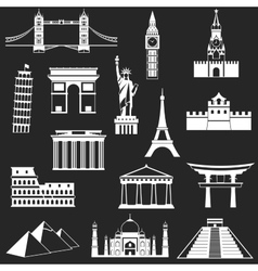 World famous buildings abstract silhouettes vector image vector image