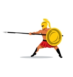 Gladiator warrior cartoon vector
