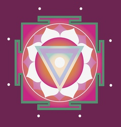 Spring yantra for health vector