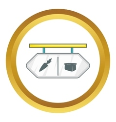 Pointer shop icon vector