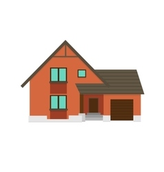House to create a streetscape flat color vector