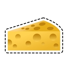 Isolated cheese design vector