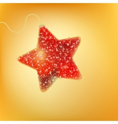 Postcard with a twinkling red star eps 8 vector