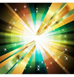 Abstract colorful background of star burst vector
