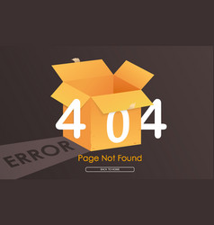 404 box error page not found vector image