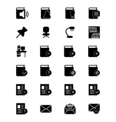 Education solid icons 7 vector