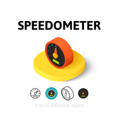 Speedometer icon in different style vector