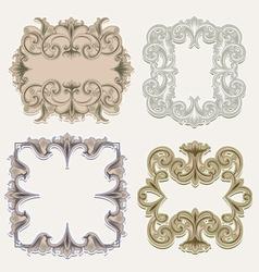 victorian frames vector image