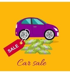 Car sale concept vector