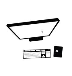 Computer black vector