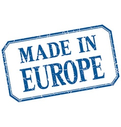 Europe - made in blue vintage isolated label vector