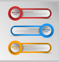 Advanced technology button sort messages vector