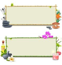 Bamboo spa boards vector