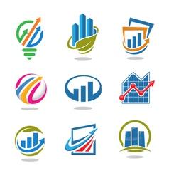Best marketing logo set vector