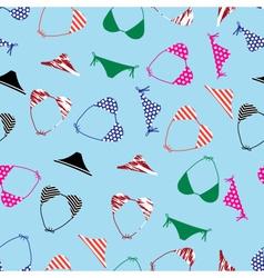 bikini swimsuit pattern eps10 vector image