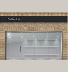 brick facade in loft style 3 vector image vector image